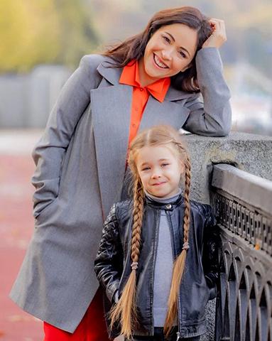 С дочерью Любавой