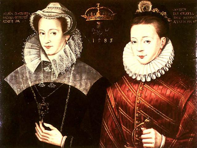 Яков в возрасте 17 лет изображен с матерью Марией. На самом деле они были разделены, когда он был еще младенцем