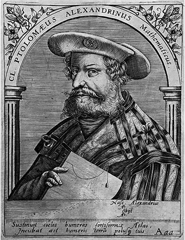 Математик Клавдий Птолемей «Александрийский», изображенный на гравюре XVI века