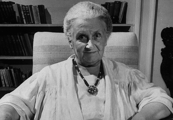 Мария Монтессори в старости