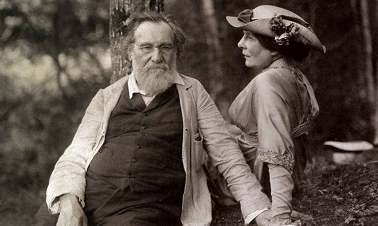 С женой Ольгой (1908)