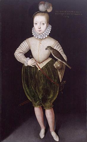 Яков I Стюарт. Портрет 1574 г.