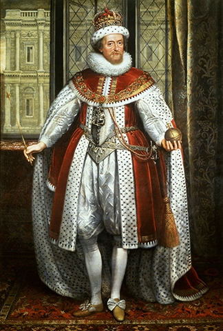 Яков I Стюарт. Портрет 1620 г.