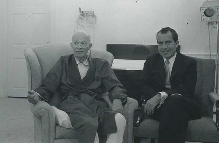 Дуайт Дэвид Эйзенхауэр и Ричард Никсон (1969)