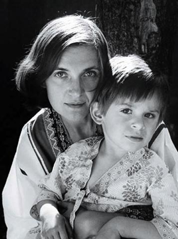 С сыном Святославом