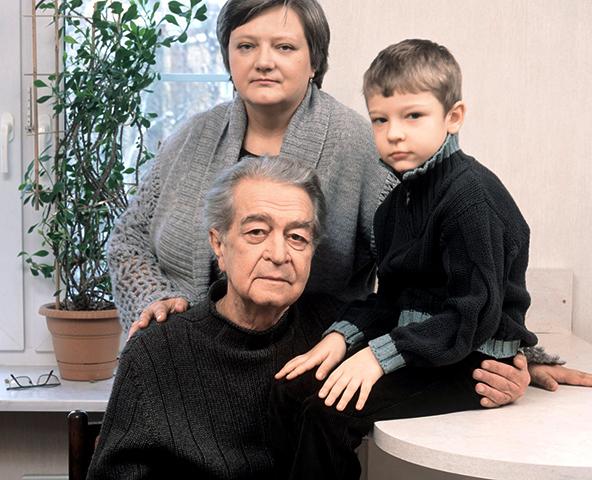 С последней женой Светланой и сыном Владимиром