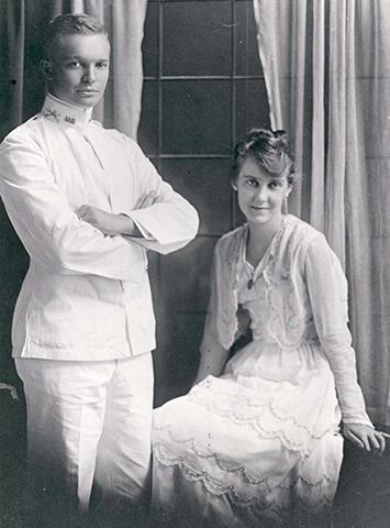 С женой в молодости