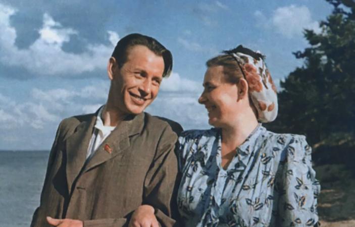 С женой Полиной
