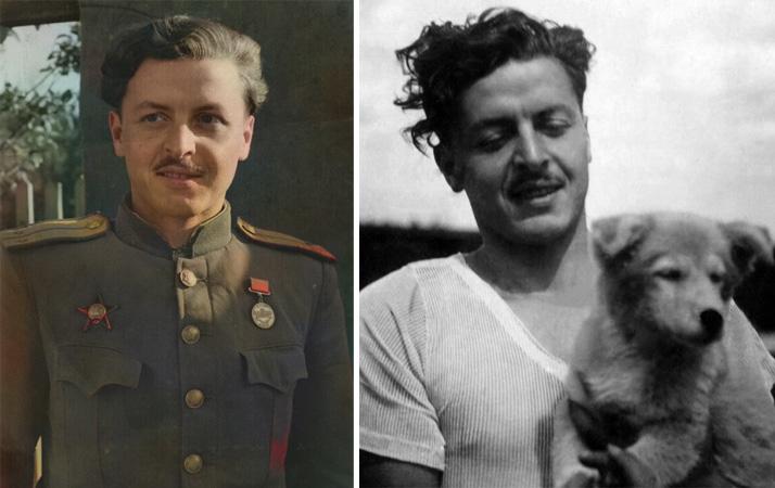 Юрий Левитанский в молодости