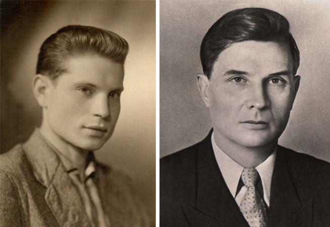 Михаил Суслов в молодости