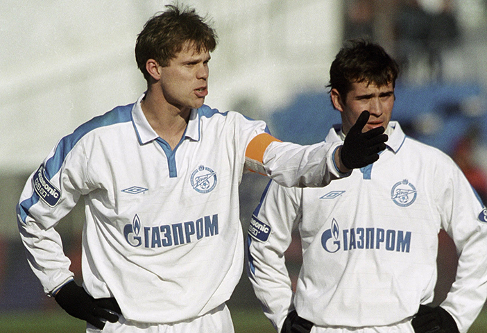 Владислав Радимов и Александр Кержаков в составе «Зенита»