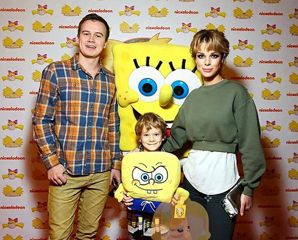 С Анной Старшенбаум и сыном Иваном