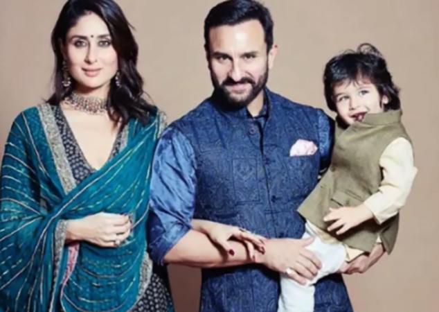 С Саифом Али Кханом и сыном Таймуром