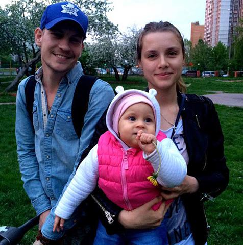 С Никитой Тезиным и дочерью Варварой