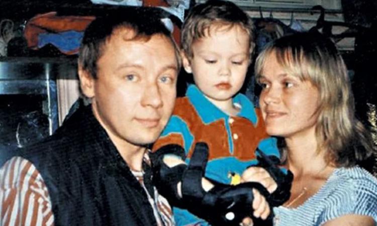 С третьей женой Еленой и сыном Иваном