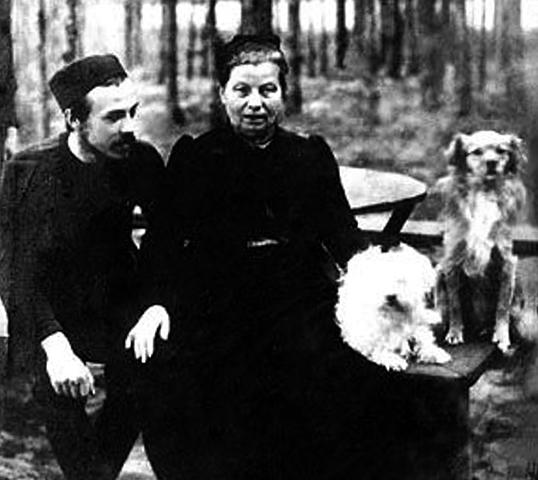 Жена Анисья с сыном Борисом