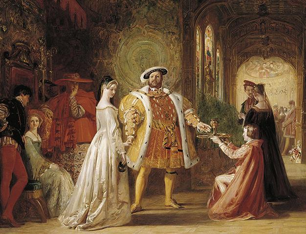 «Первая встреча Генриха VIII с Анной Болейн». Худ. Д. Маклайз (1836 г.)