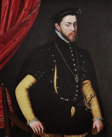 Филипп II. Портрет 1554 г.
