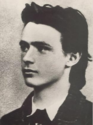 Рудольф Штайнер, выпускное фото из средней школы