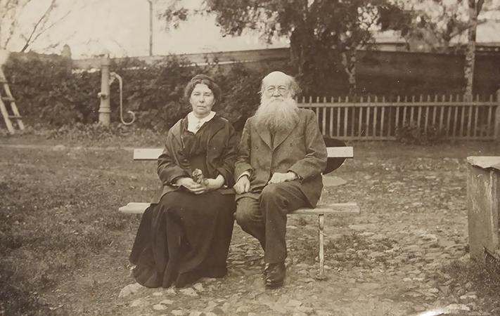С женой Софьей