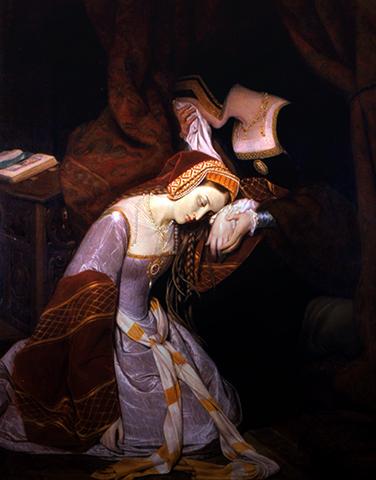 Анна Болейн в Лондонском Тауэре (худ. Э. Сибо, 1835 г.)