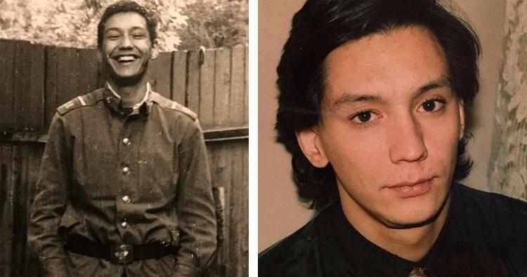 Егор Кончаловский в молодости. Слева — в армии. Справа — в годы учебы в Оксфорде