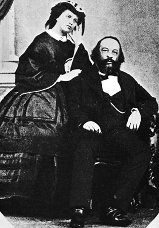 С женой Антониной (1861 г.)