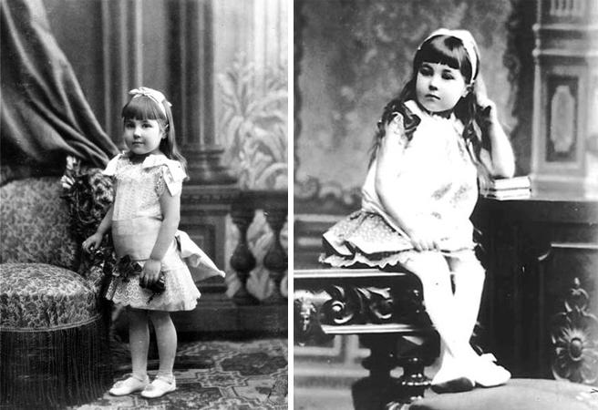 Елена Шапошникова в детстве