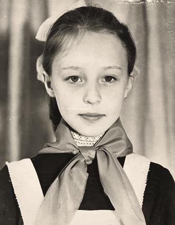 Наталья Сенчукова в детстве