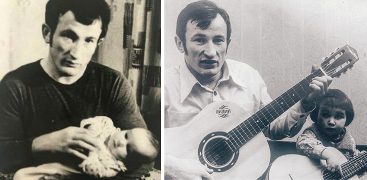 Анфиса Чехова с отцом