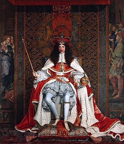 Коронационный портрет: Карл II был коронован в Вестминстерском аббатстве 23 апреля 1661 года