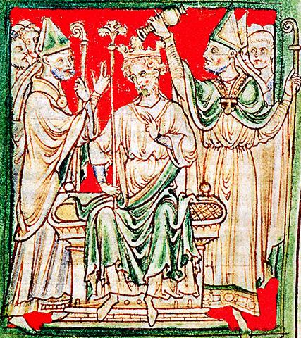 Коронация Ричарда I в Вестминстерском аббатстве