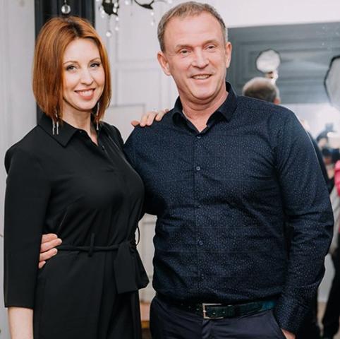 С мужем Виктором