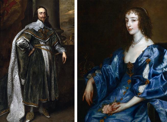 Родители — Карл Первый и Генриетта Мария