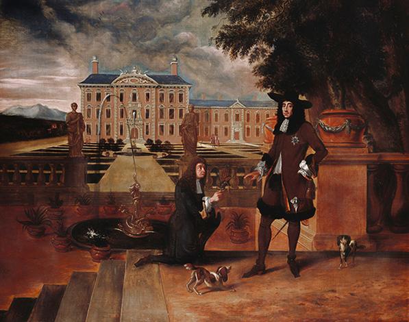 Карлу II подарили первый ананас, выращенный в Англии в 1675 году. Картина Хендрика Данкертса