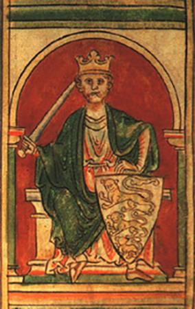 Ричард I, изображенный в рукописи 13 века