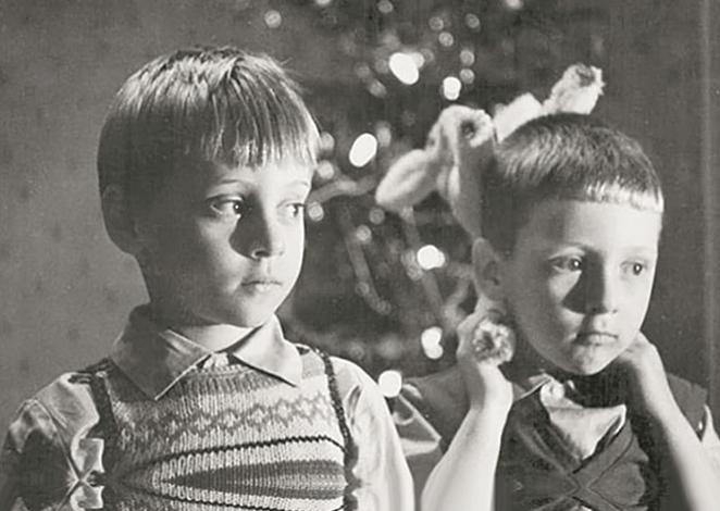 Аркадий и Никита Высоцкие
