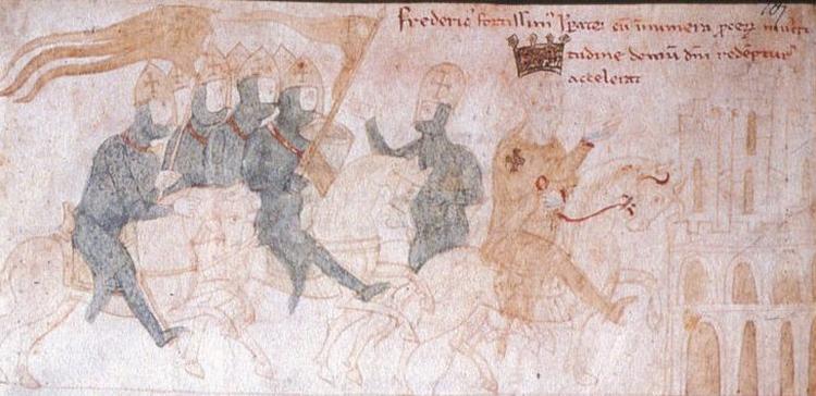 Фредерик Барбаросса, изображенный во время Третьего крестового похода
