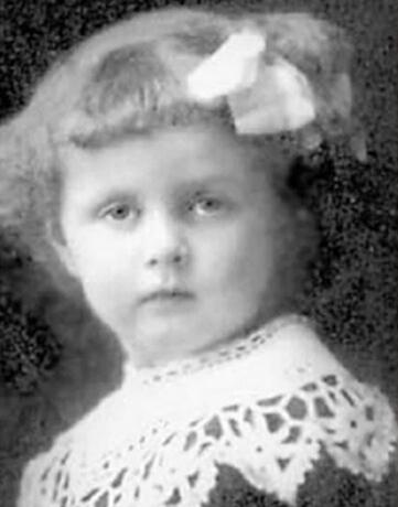 Татьяна Окуневская в детстве