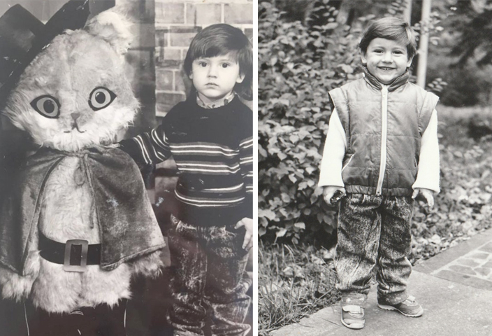 Дмитрий Монатик в детстве
