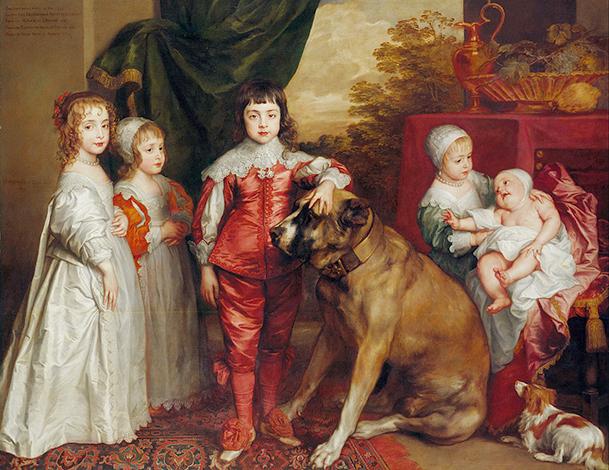 Пятеро старших детей Карла I на картине 1637 г.