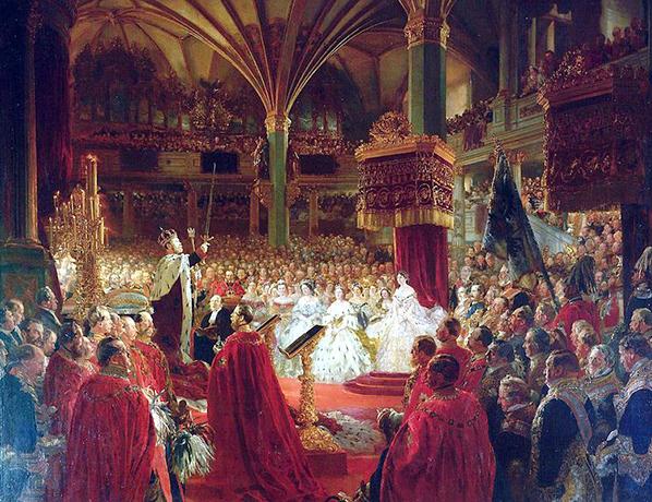 Коронация Вильгельма I как короля Пруссии в Кенигсбергском замке в 1861 году