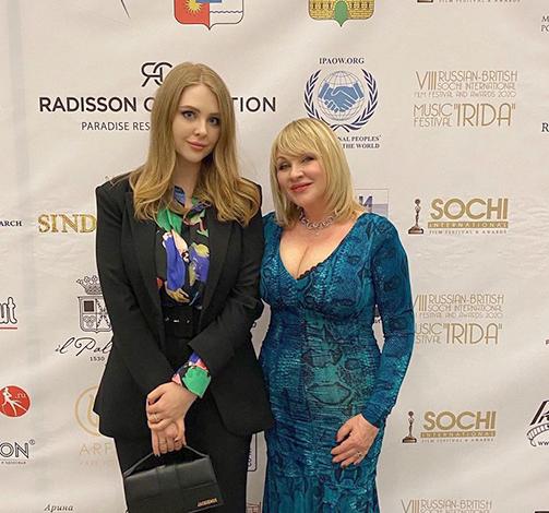 С дочерью Анастасией
