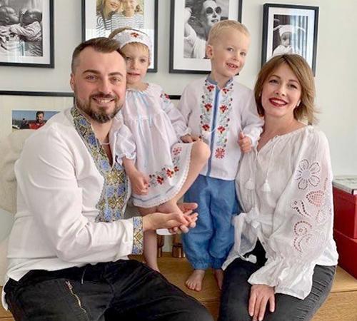 С мужем Сергеем и детьми Екатериной и Иваном
