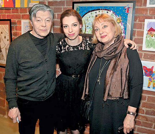 С Александром Збруевым и дочерью Татьяной