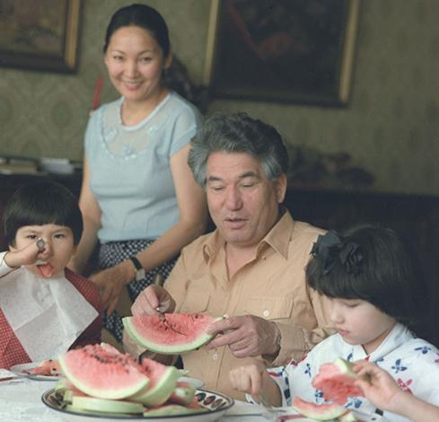 Со второй женой Марией и детьми