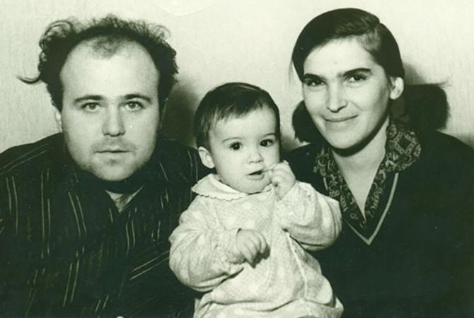С первой женой Татьяной и дочерью Ксенией