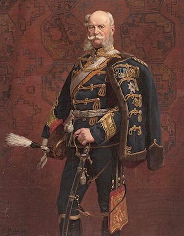 Вильгельм в гусарской форме на картине Эмиля Хюнтена