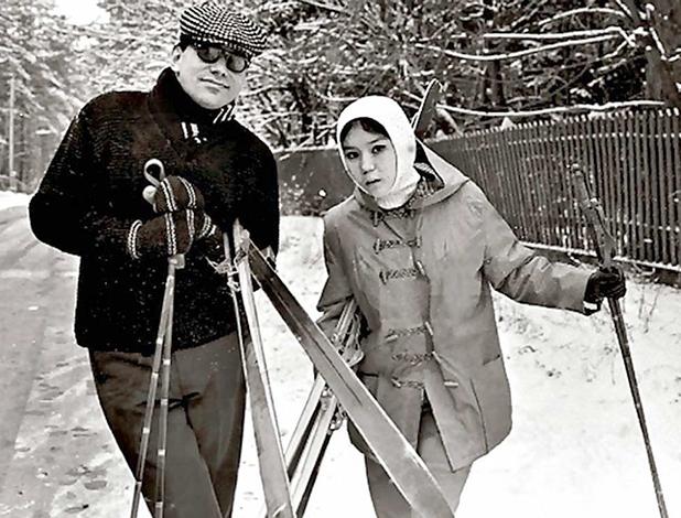 Наталья Аринбасарова и Андрей Кончаловский