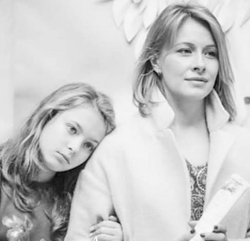 С дочерью Марией
